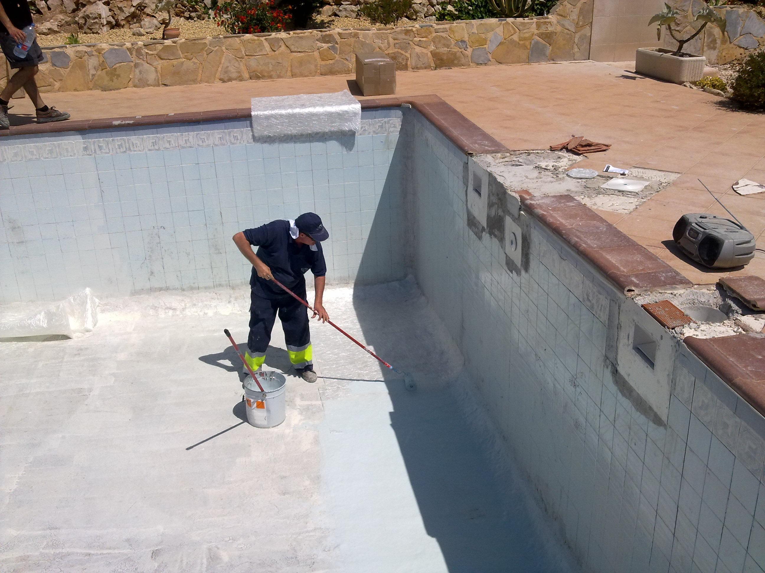 Pintura para piscinas de fibra de vidrio cheap detalle - Piscinas de fibra ...