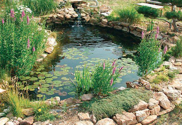 Revestimiento de estanques con prfv jardines de for Estanque de jardin con cascada