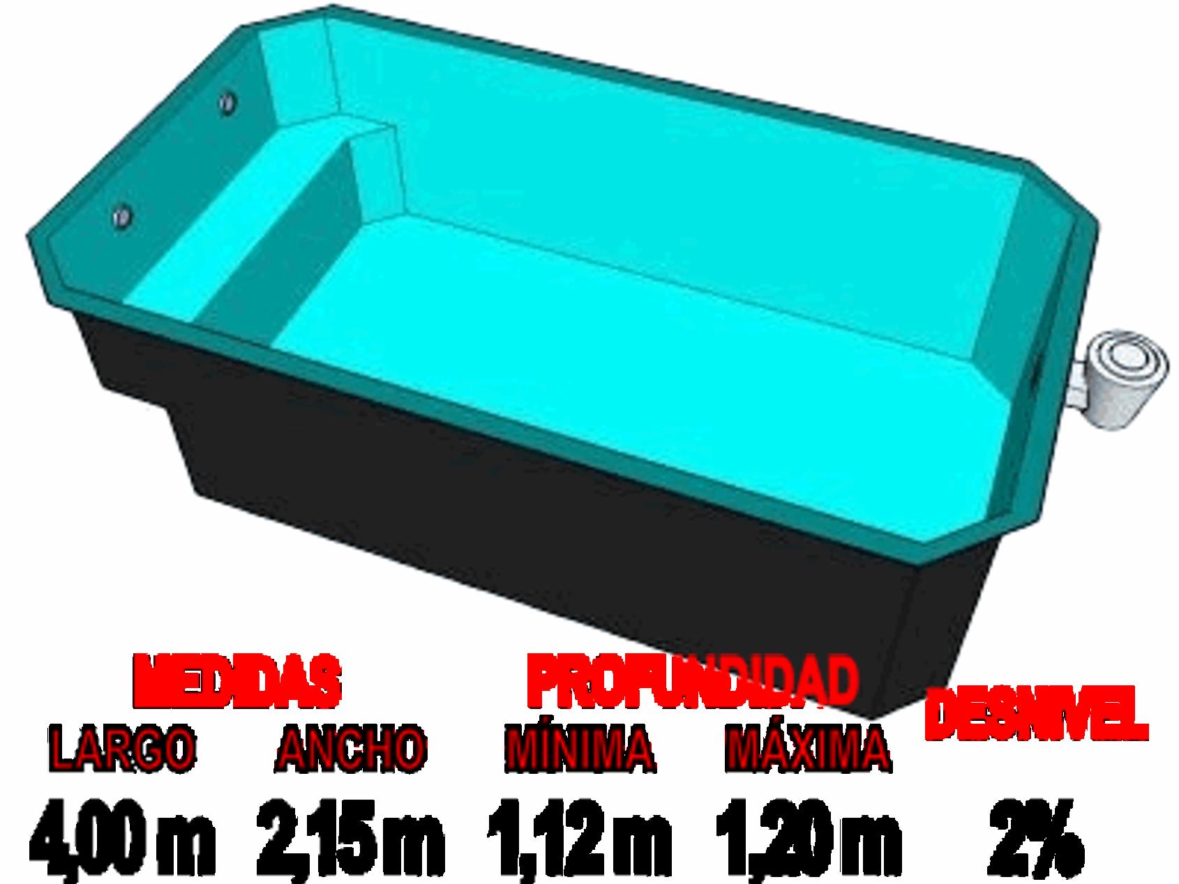 Barpool piscinas prefabricadas de poliester reforzadas for Piscina 3x3