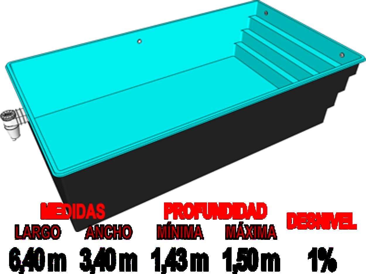 Barpool piscinas prefabricadas de poliester reforzadas for Piscinas de fibra de vidrio medidas
