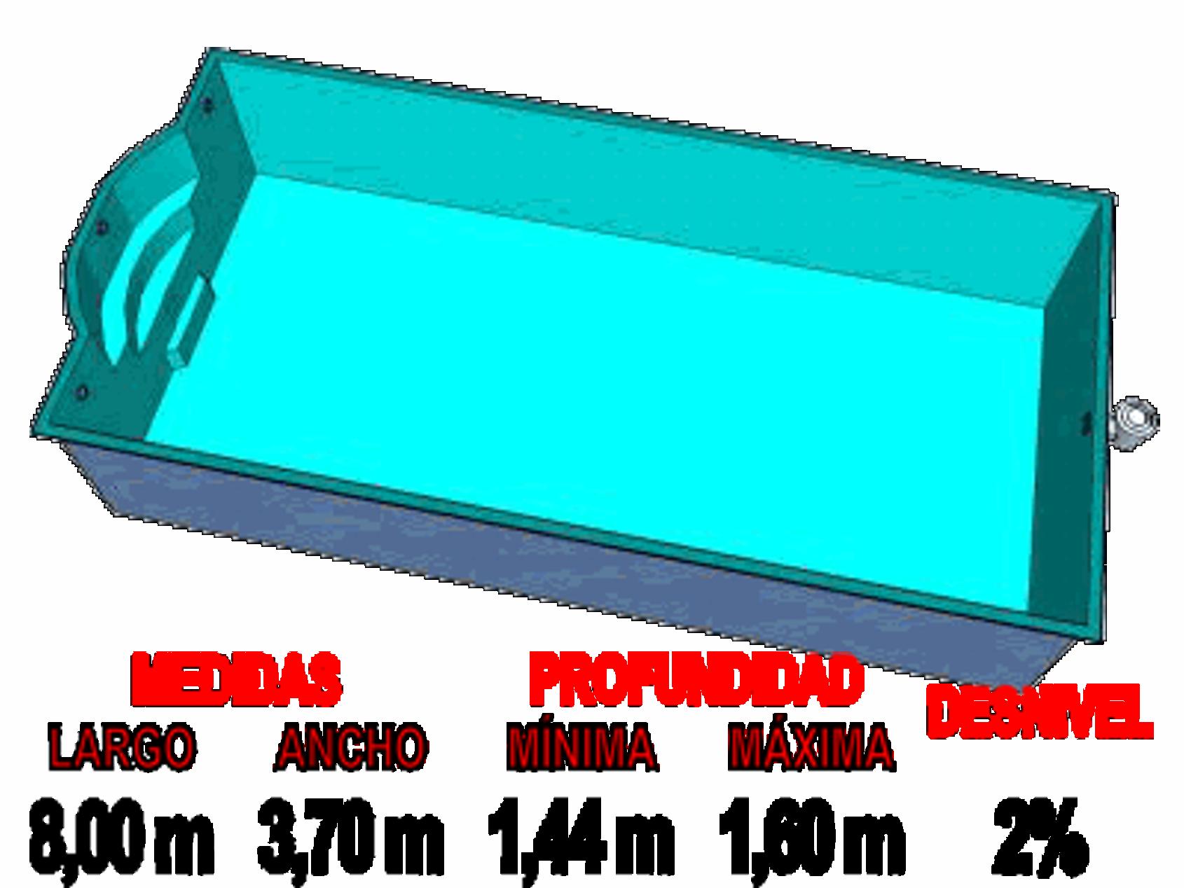 Piscinas plasticas grandes de piscinas de lona o intex en for Piscinas desmontables hechas a medida