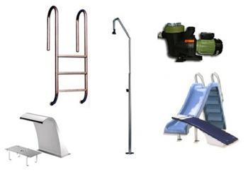 Accesorios para piscinas prefabricadas de poliester con for Accesorios de piscina