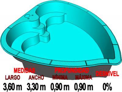 Piscinas de fibra piscina de poliester piscinas de for Cuanto cuesta construir una pileta de material