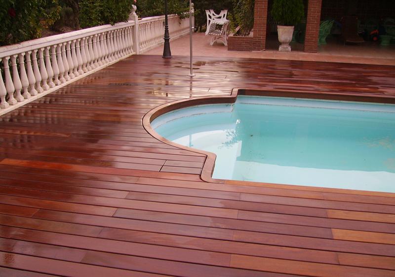 Coronacion de piscinas trendy borde de piscina de piedra - Madera para piscinas ...